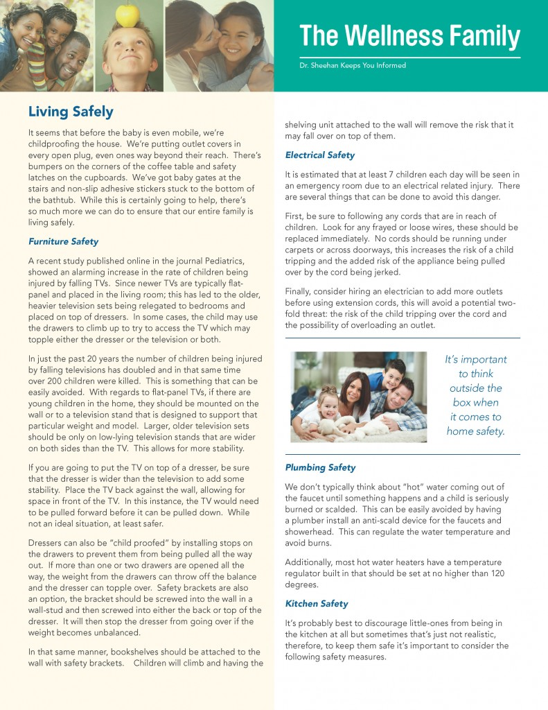 August Newsletter: Living Safely